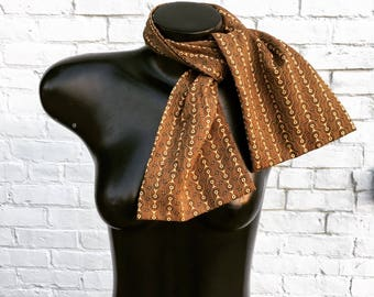 Vintage French Hermes Brown Scarf Neckerchief