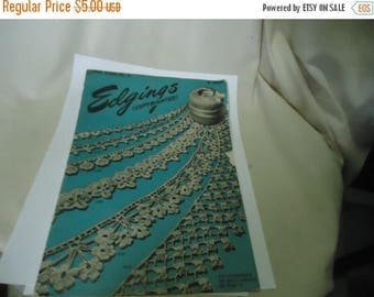 Ephemera & Books 50% Sale Vintage 1946 American Thread Company Edgings Star Book No 41, collectable