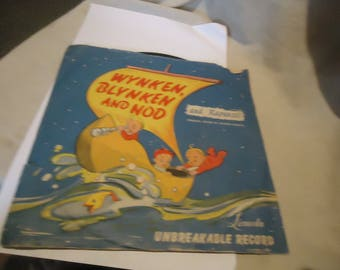 Vintage 1930 Wynken Blynken And Nod With Rapunzel Unbreakable Record, collectable