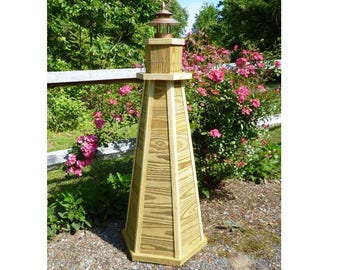 Woodworking Plans for a 4ft. Lawn Lighthouse. Illustrated with Photos!