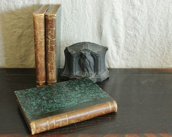 3 Antique Volumes of Bound  French Novels