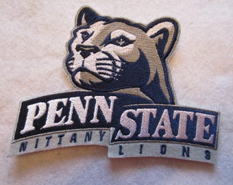 Penn State Iron On Patch, Penn State Applique, Penn State, Iron On Patch, Penn State Football, Football Patch, Football