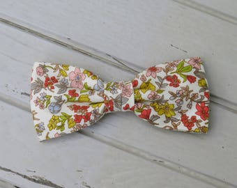 Summer Floral Bow Tie, Mens Bow Tie, Summer Bow Tie, Spring Bow Tie, Bow Tie for Wedding, Groomsmen and Groom Bow Tie, Mens & Kid Bow Tie