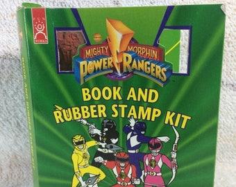 20% SALE Mighty Morphin Power Rangers Stamp Set 1995 Saban Retro 90s Kids Art Supplies Collectible