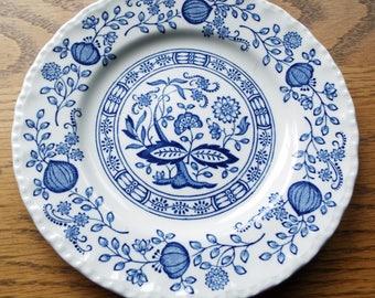 Enoch Wedgwood (Tunstall) Ltd. Blue Onion Dish