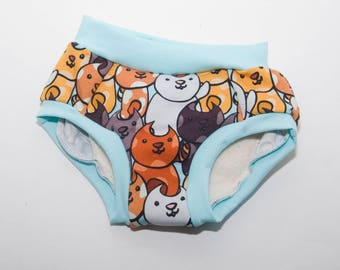 Here Kitty Kitty Cloth Training Pants - Training Undies - 18 months to 4t