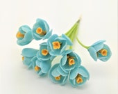 Crocus Miniature Polymer Clay Flowers Supply for Dollhouse and Flowers Beads Jewelry, 10 stems