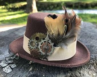 Miniature Steampunk Top Hat Fascinator
