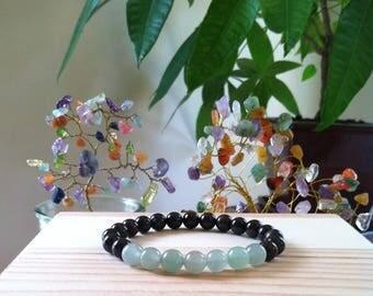 Handmade Gemstone Garnet & Green Aventurine 8mm Bead Bracelet, Rejuvenation, Protection, Success, Money,Abundance,Love, Metabolism Bracelet