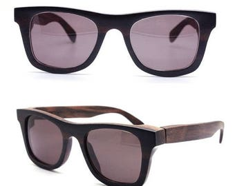 20% off SUMMER SALE ebony  WALKER2011 handmade wood  prescription sunglasses eyeglasses Takemoto