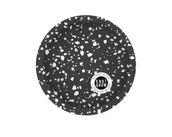 Party Plates | Black Chip | 10 small plates per pack