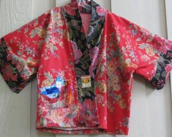 Red Kimono Jacket Bohemian Fashion Kimono Jacket Red Jacket Boho Kimono Cardigan Cover Up Plus Size One Size