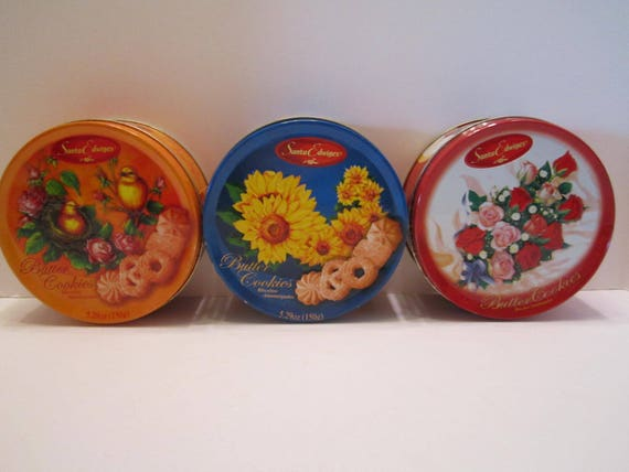 Cookie Tins - Santa Edwiges Butter Cookies - Collectible Cookie Tins - Storage Tins - Decor Tins - Made in Brazil - Set of 3