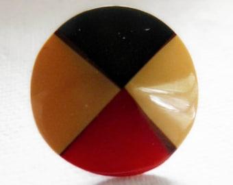 Three Color Bakelite Button