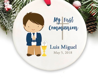 Holy Communion Christmas Ornament Personalized Holy Communion Gift GIFT BOX  Included
