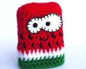 Watermelon, Pocket Tissue Holder, Travel tissue pouch Kawaii crochet kleenex case, Cute party gift, Watermelon amigurumi
