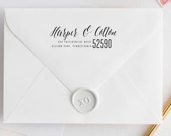 Self-Inking Address Stamp, Calligraphy Wedding Stamp, Family Address Stamp, Cursive Script Calligraphy Stamp, Modern Address Stamp. Address