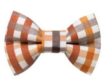 """Cat Bow Tie - """"The Slow Jam"""" - Fall Plaid"""