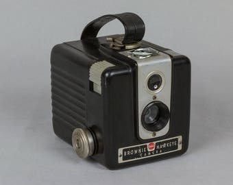 1950s Brownie Hawkeye Box Camera, made in USA by Eastman Kodak, uses 120 film Excellent vintage condition