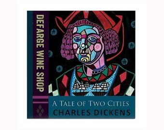 Tale of Two Cities Book Lover Ceramic Art Tile by artist Heather Galler Charles Dicken Novel Classic