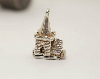Vintage Sterling Opening Nuvo Wedding Chapel Charm