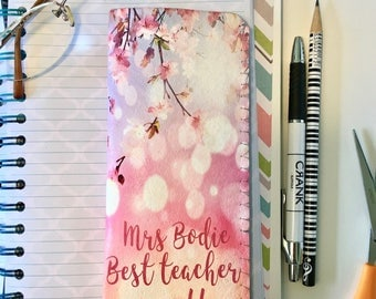 Personalised Teacher Glasses Case-Blossom Glasses Case-Teacher Gift-Reading Glasses Case-Thank You Gift for Teacher - FREE Glasses Cloth