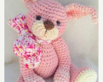 Summer Sale Crochet Pattern Huggable Bunny by Teri Crews instant download PDF format Crochet Toy Pattern