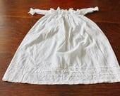 Antique Baby Dress Christening Gown Newborn Edwardian Doll