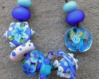 SALE Atlantis, Set 3 Lampwork Beads