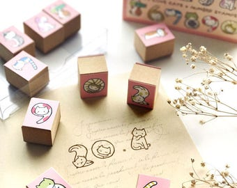 We Love Cats Number Stamps