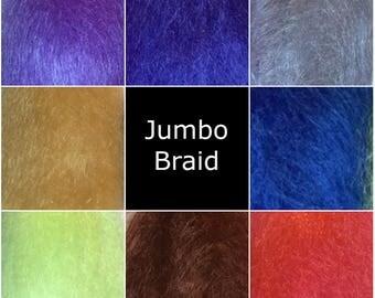 Kanekalon Jumbo Braid - Assorted Colours - red, purple, blue, green  - Braiding - Dread making