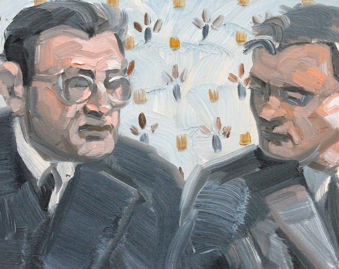 Quiet Negotiation, 9x12 inches oil on canvas panel by KennEy Mencher