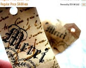 Hand Stamped MERCI Hang Tags - Favors - Cottage Chic