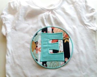 Girls Shirts, Birthday Shirts, Initial Shirt, Shirts, Personalized Shirt, Girl Birthday Shirt, Back to School Shirt, Embroidered Shirt