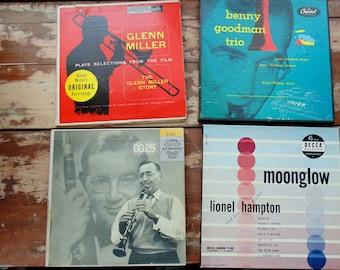Benny GOODMAN. Lionel Hampton. GLENN MILLER. Vintage Record Lot. 45 rpm record. records. 45 rpm / ep. vintage 1950s. music. records.