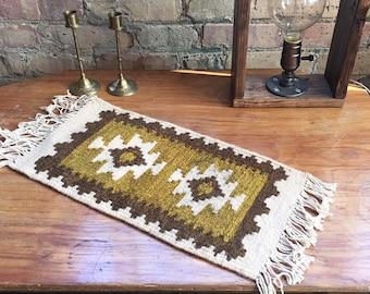 vintage brown kilim rug mini rug small kilim rug tiny rug accent