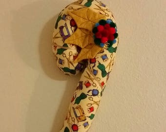 Sewing room themed, Candy Cane shaped Wall decor