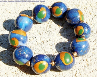 Bracelet creator globes, polymer clay