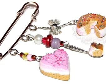Broche gourmands pinks, caramel
