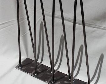 "2 Rod Hairpin Leg 12-28"" high Steel Leg Metal Leg Hairpin Each"