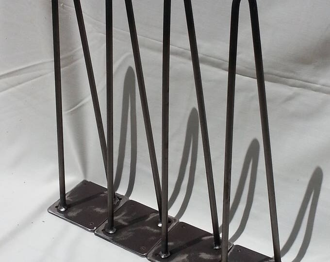 "2 Rod Hairpin Leg 12-28"" high Steel Legs Metal Leg Hairpins SOLD AS EACH"