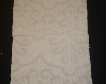 """Cotton Chenille Bedspread Squares 100% Cotton Chenille fabric Squares White/ecru color 19"""" x 20"""" Size"""