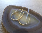 Lot of 30 Oval Shape Manipulating Earring Hoops Gold Plated Over Sterling Silver