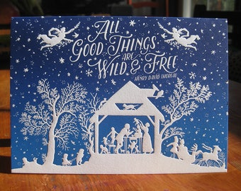 All Good Things Holiday Letterpress Pack of 5 Cards
