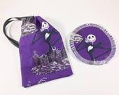 Menstrual Cup Bag Purple Jack Skellington