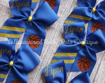 Custom Basketball Cheer Bow