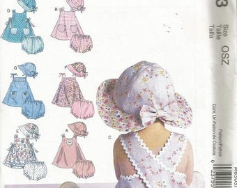 McCall's 6303 Infant Dress, Panties and Hat Pattern   OSZ