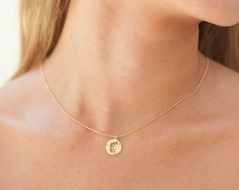 Gold Sun Moon | Crescent Necklace | Gold Moon Necklace | Moon Phase | Eclipse Necklace | Gift for Her | Gift For Her | Sun and Moon