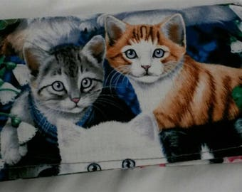 Multiple Kittens Cats Checkbook Cover Coupon Holder Clutch Purse Billfold Ready-Made