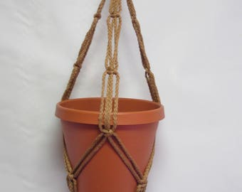 Macrame Plant Hanger 20 in FRIENDSHIP - Cinnamon